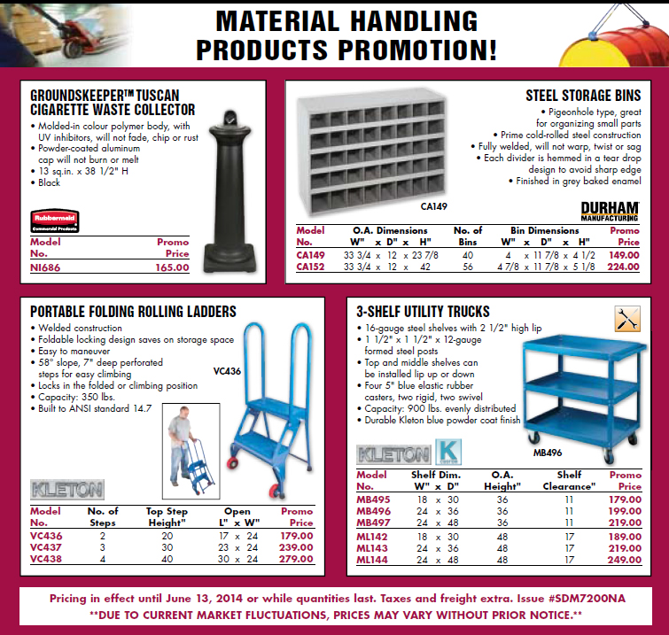 Material Handling Products Promotion