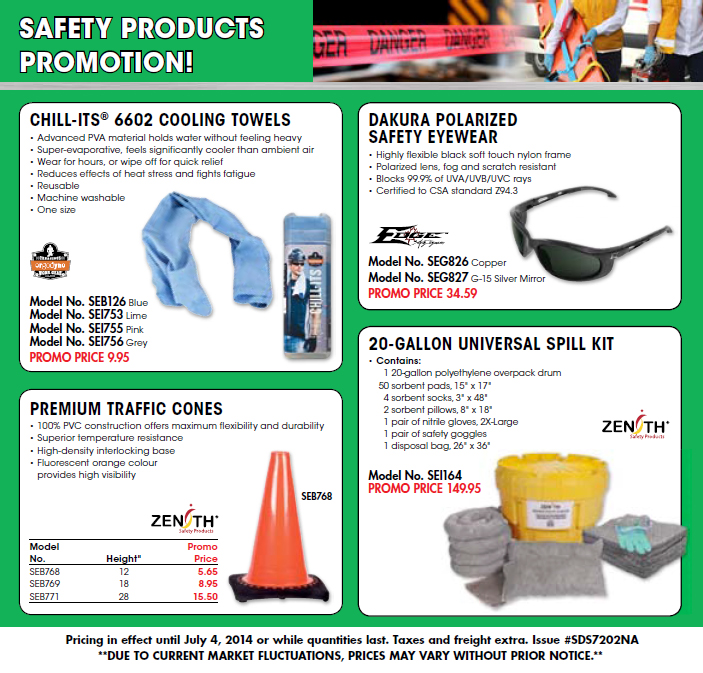 Safety products promotion!